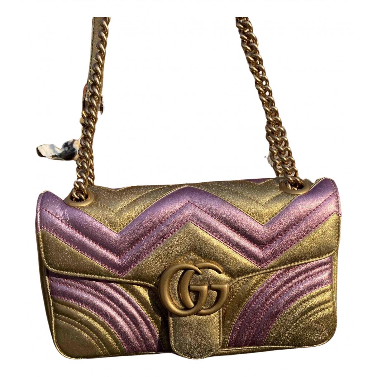 Gucci Marmont Metallic Leather handbag for Women N
