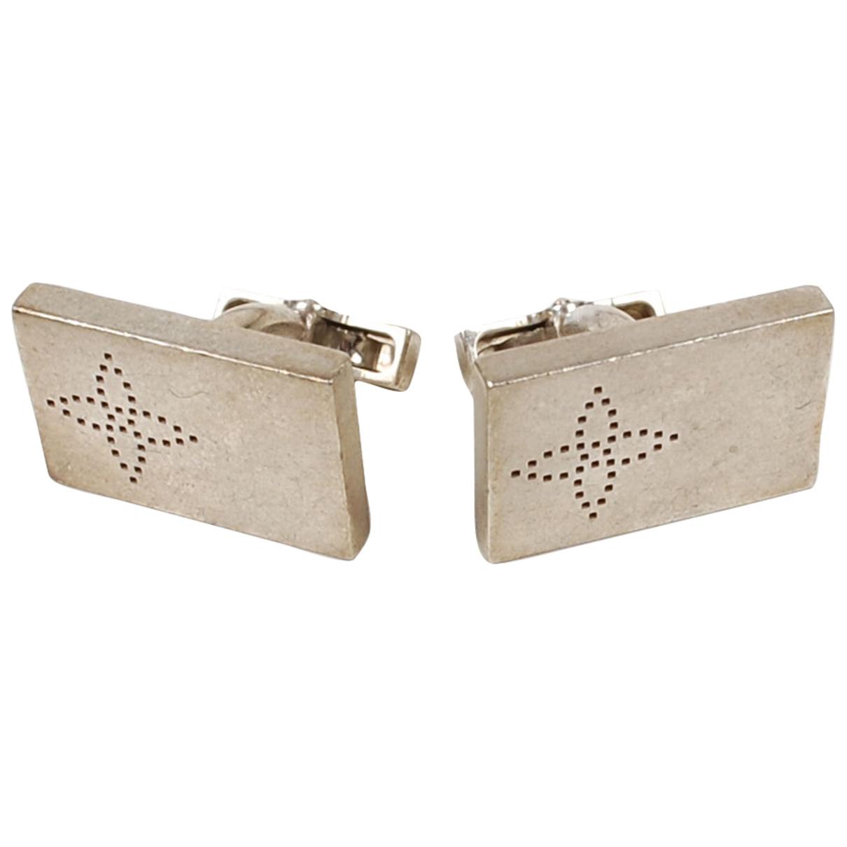 Louis Vuitton \N Manschettenknopfe in  Silber Metall