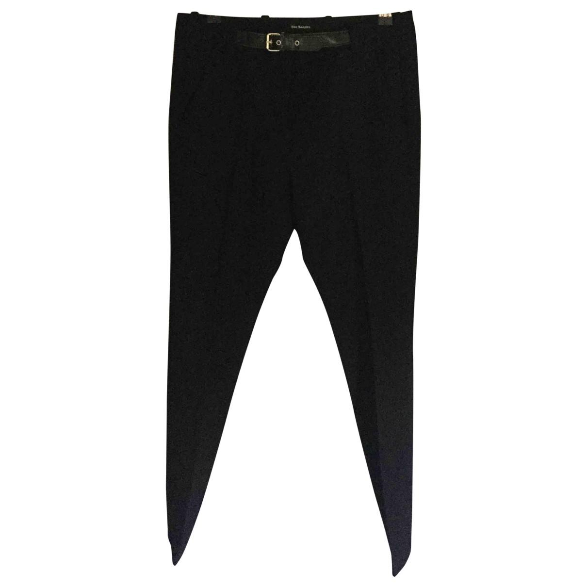 The Kooples \N Black Wool Trousers for Women 36 FR