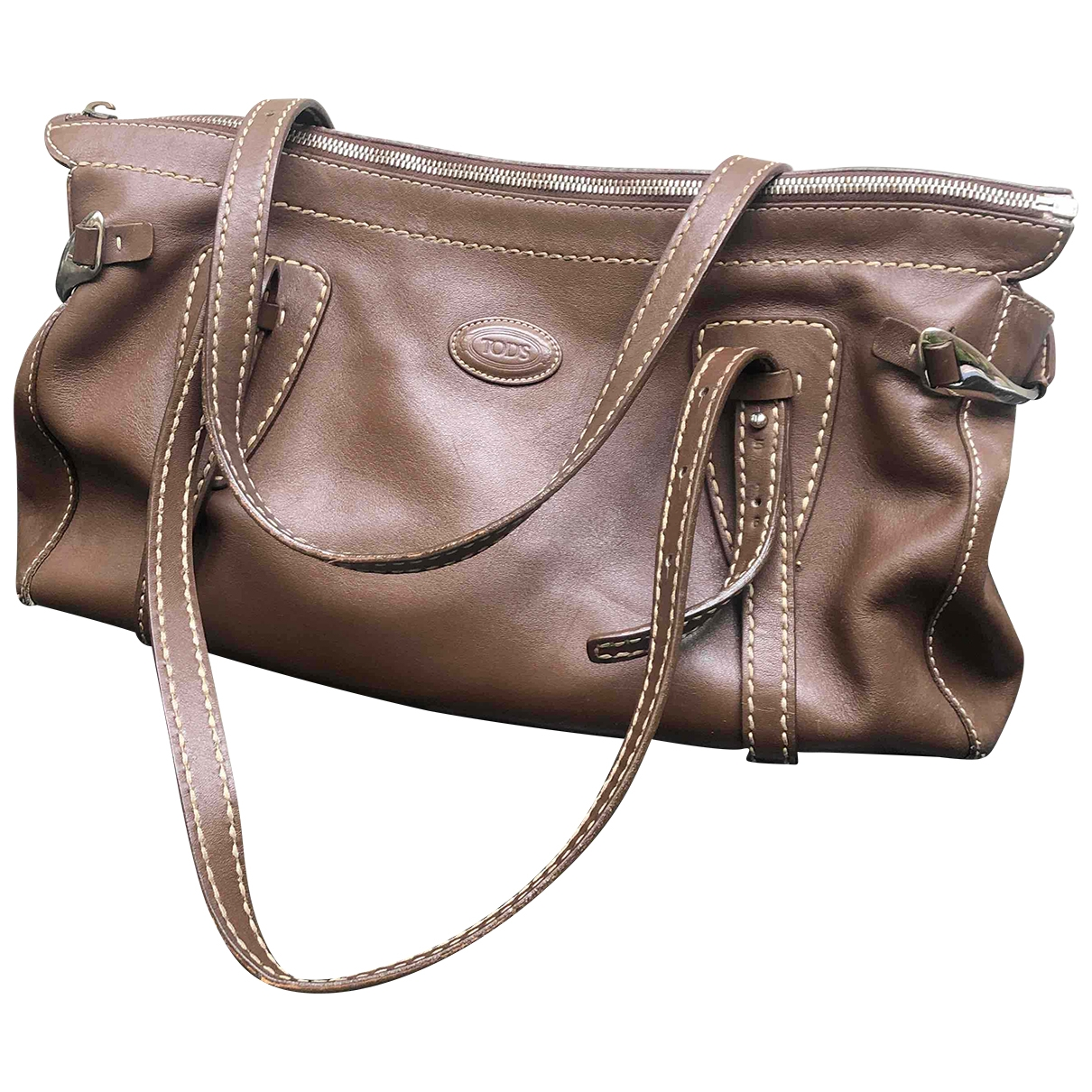 Tods \N Handtasche in  Braun Leder