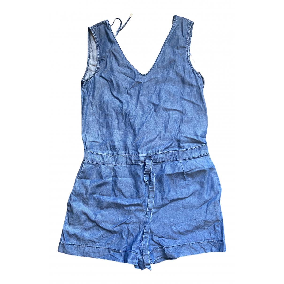 Zara - Combinaison   pour femme en soie - bleu