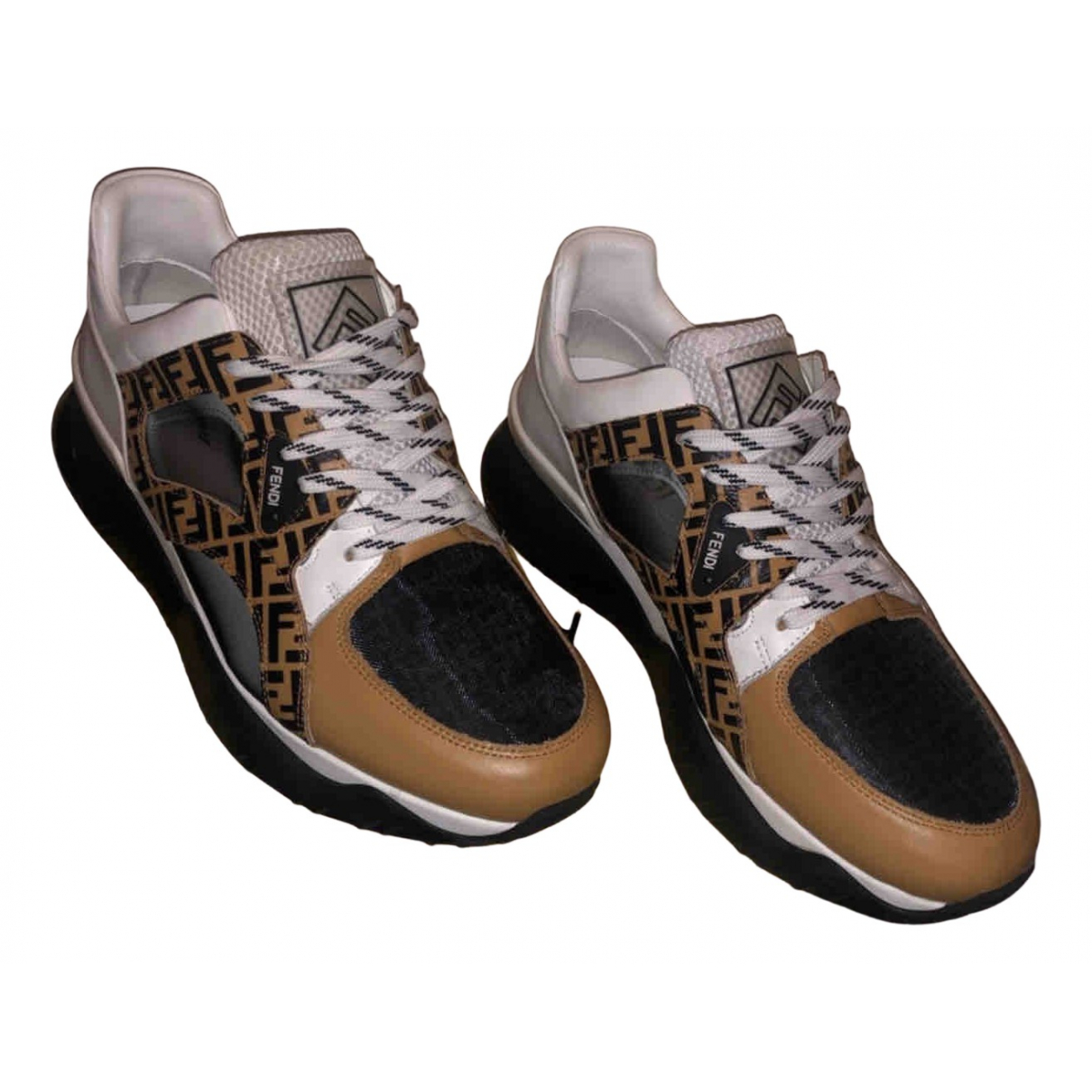 Fendi N Brown Leather Trainers for Men 12 UK