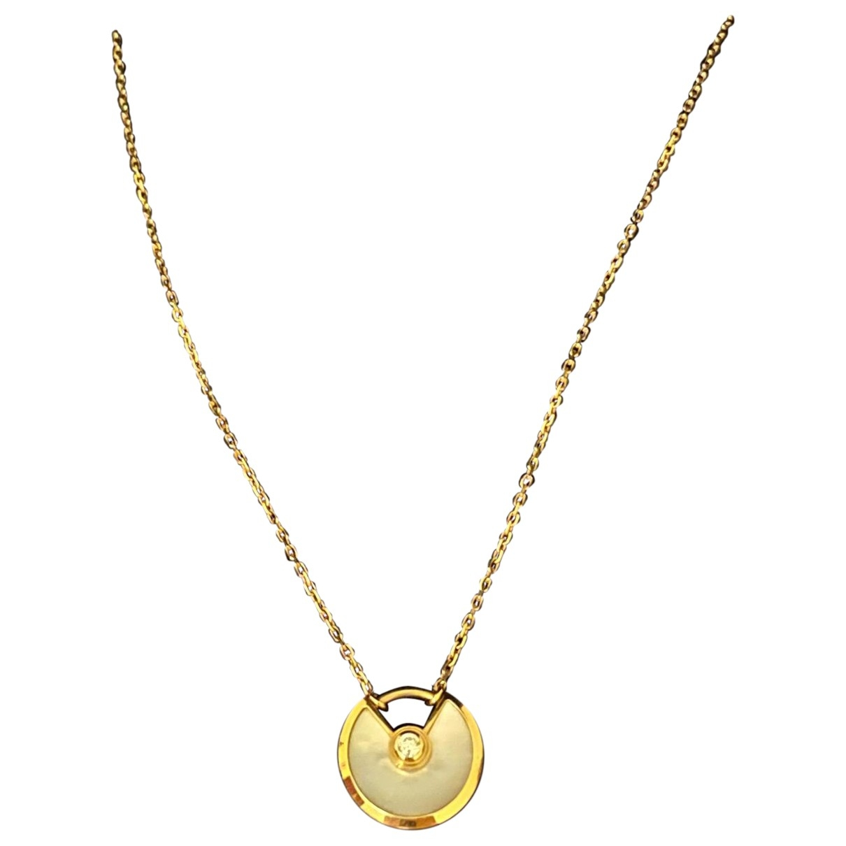 Cartier Amulette White Yellow gold pendant for Women \N