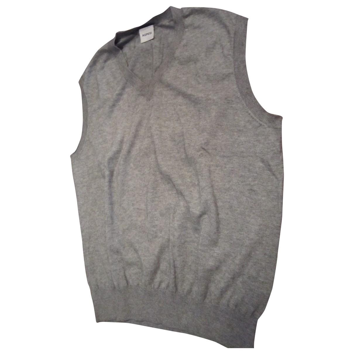 Aspesi \N Pullover.Westen.Sweatshirts  in  Grau Baumwolle