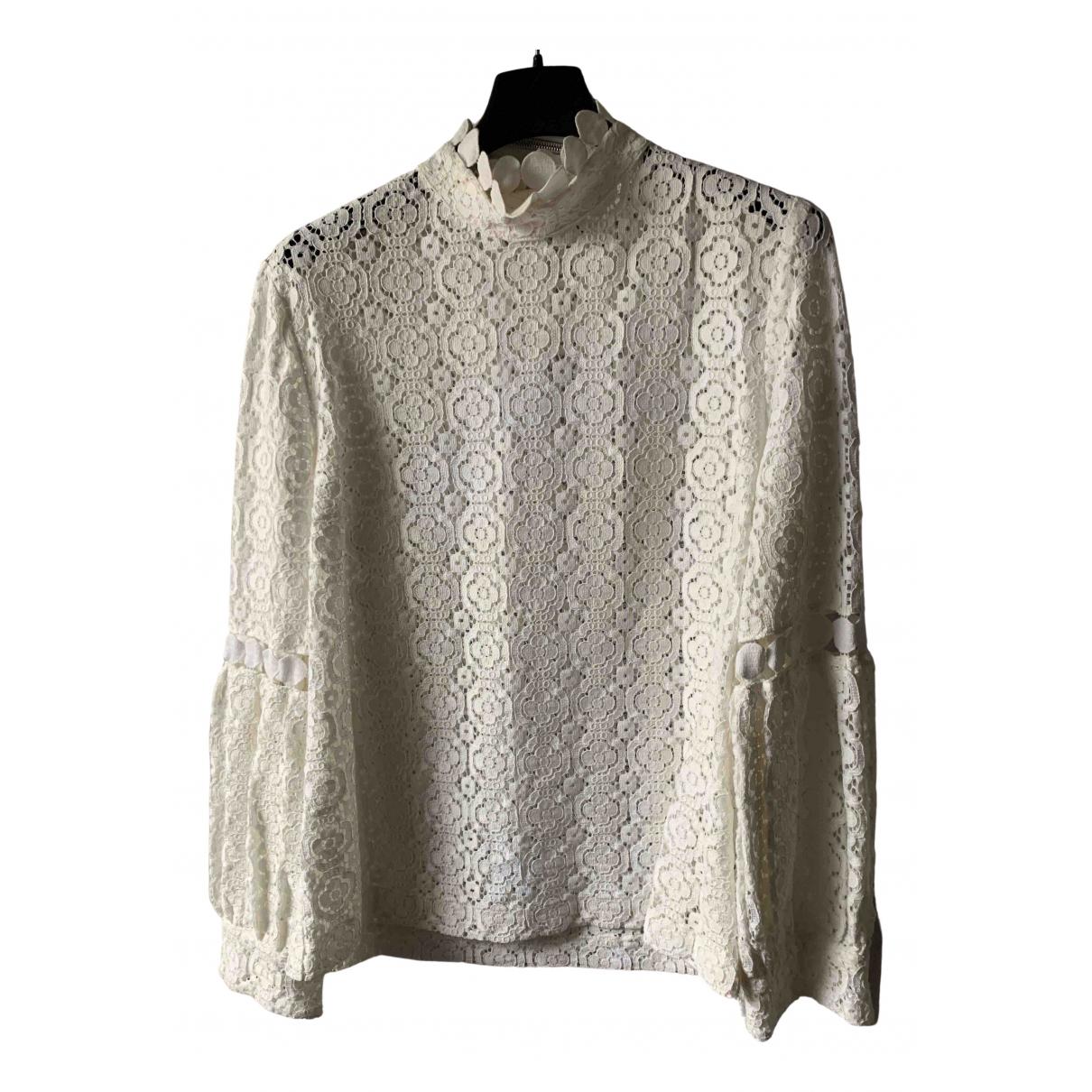 Claudie Pierlot - Top   pour femme en coton - blanc