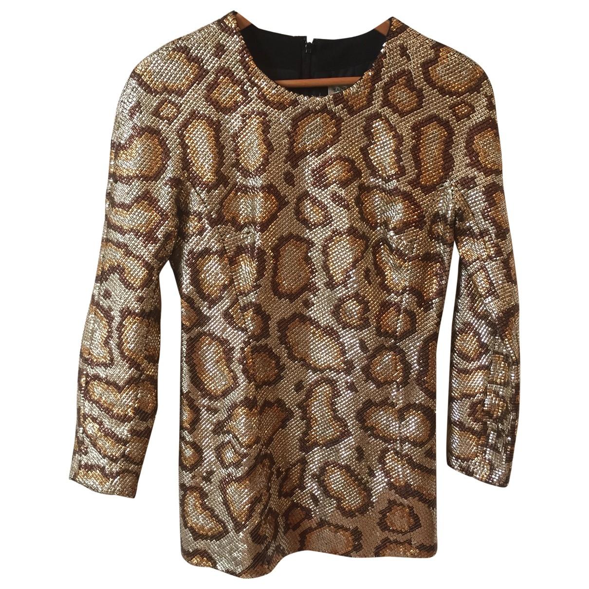 Saint Laurent \N Kleid in  Gold Synthetik