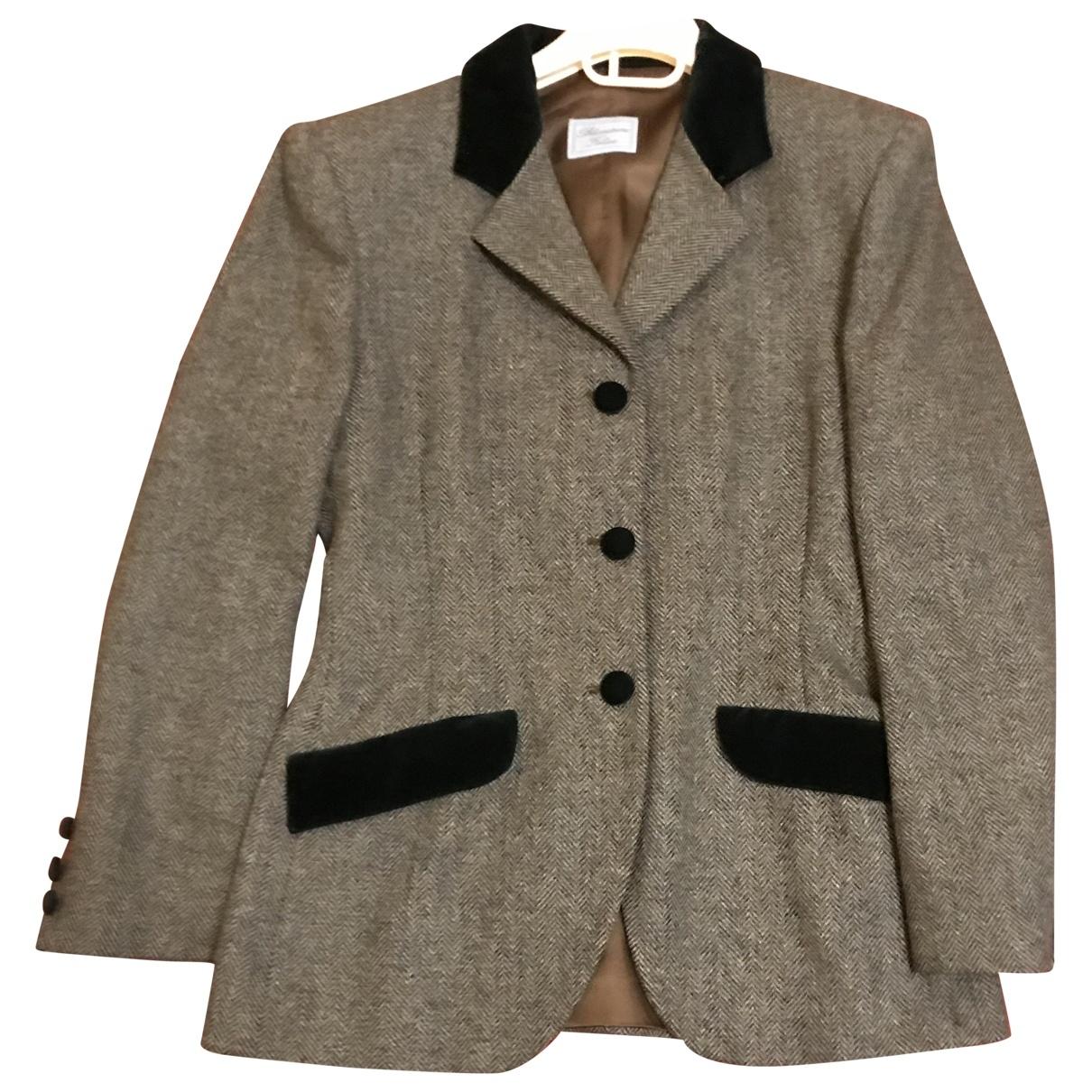 Blumarine \N Green Wool jacket for Women 42 IT