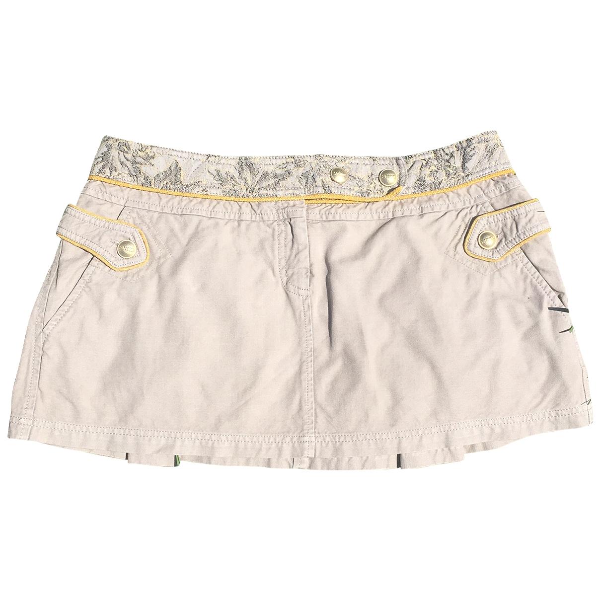 Pinko - Jupe   pour femme en coton - beige