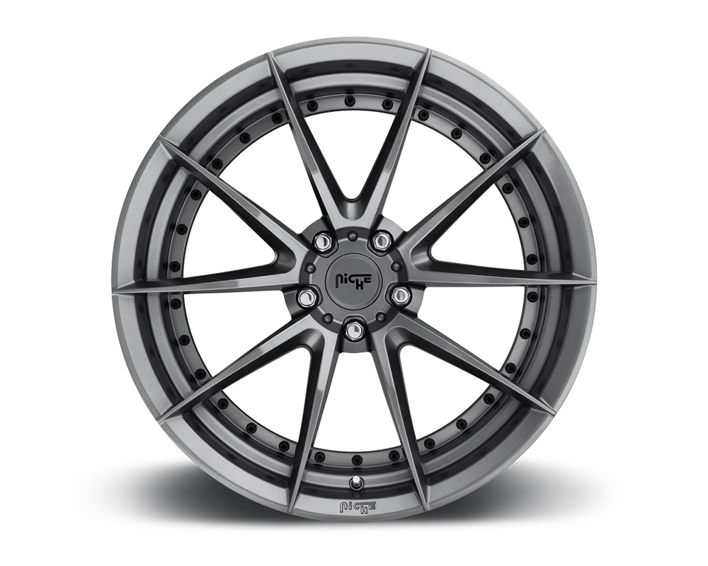 Niche M197 Sector Gloss Anthracite 1-Piece Cast Wheel 19x9.5 5x114.3 35mm