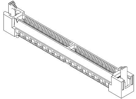 Samtec , HSEC8-DV Female PCBEdge Connector, SMT Mount, 80 Way, 2 Row, 0.8mm Pitch, 3.1A