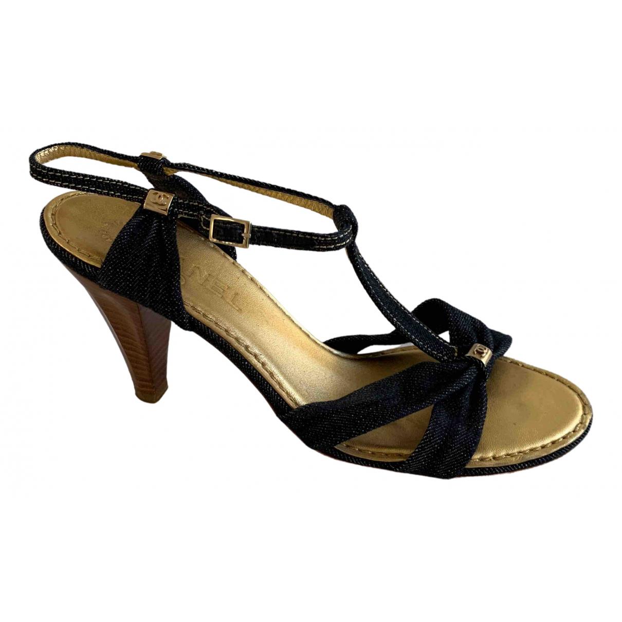 Chanel \N Blue Cloth Sandals for Women 39 EU