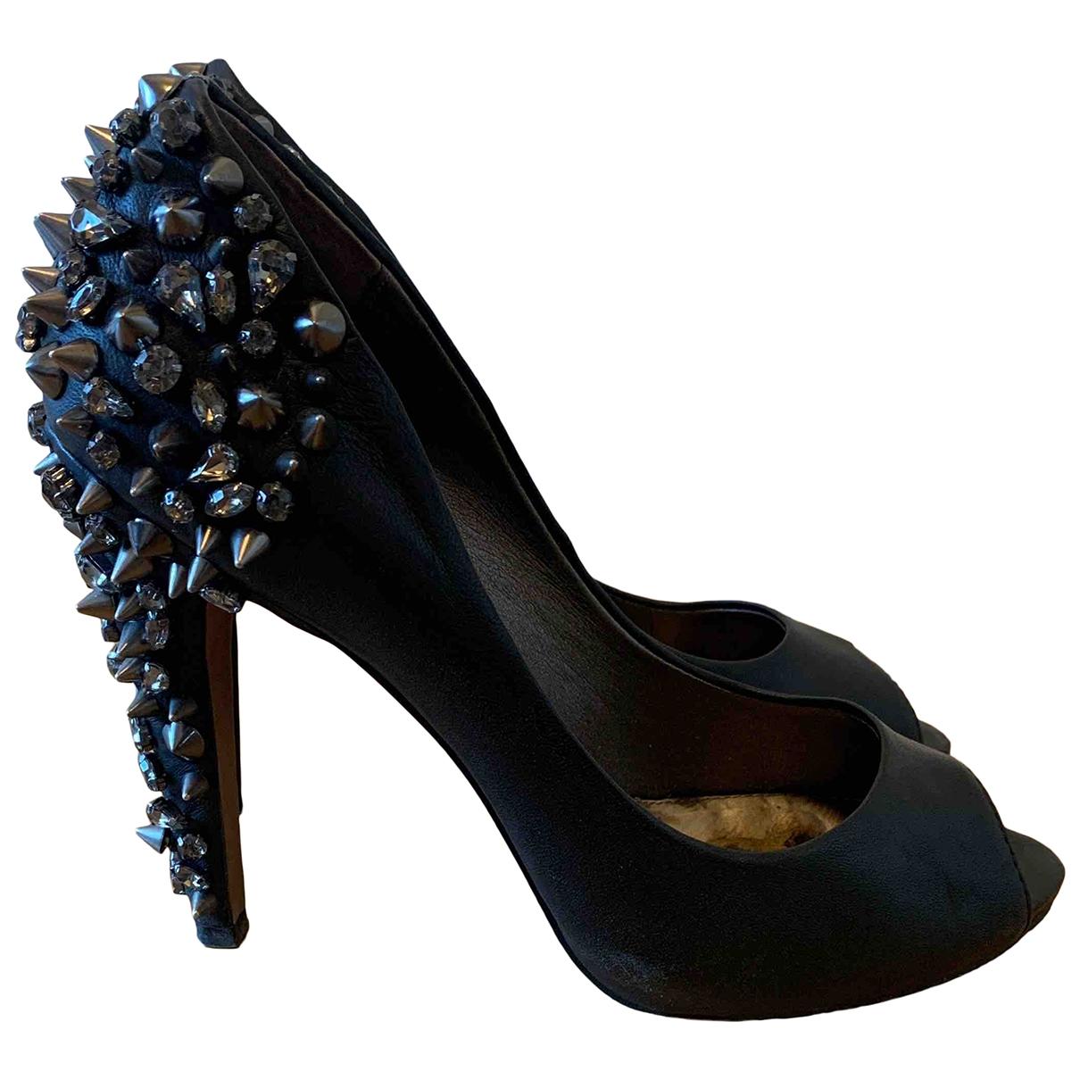 Sam Edelman - Escarpins   pour femme en cuir - noir