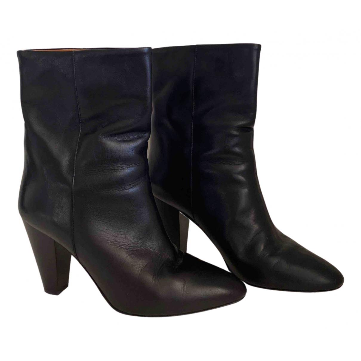 Isabel Marant - Boots   pour femme en cuir - noir