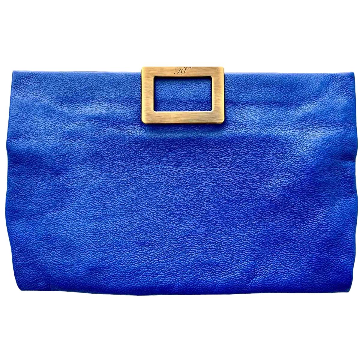 Roger Vivier - Pochette   pour femme en cuir - bleu