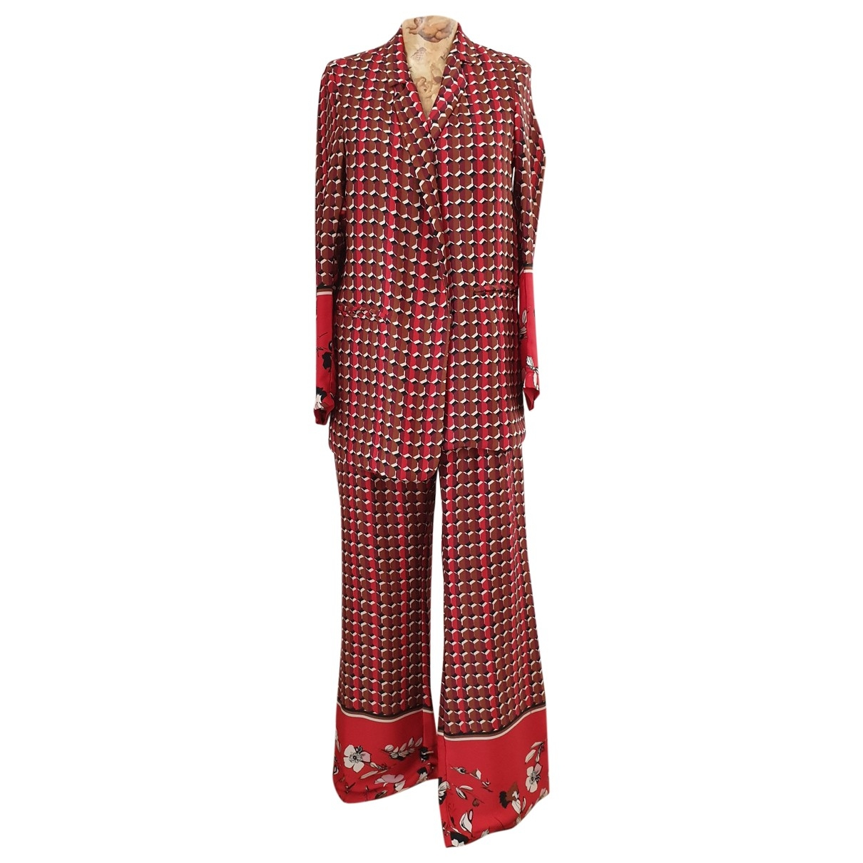 Non Signé / Unsigned \N Burgundy dress for Women 42 IT