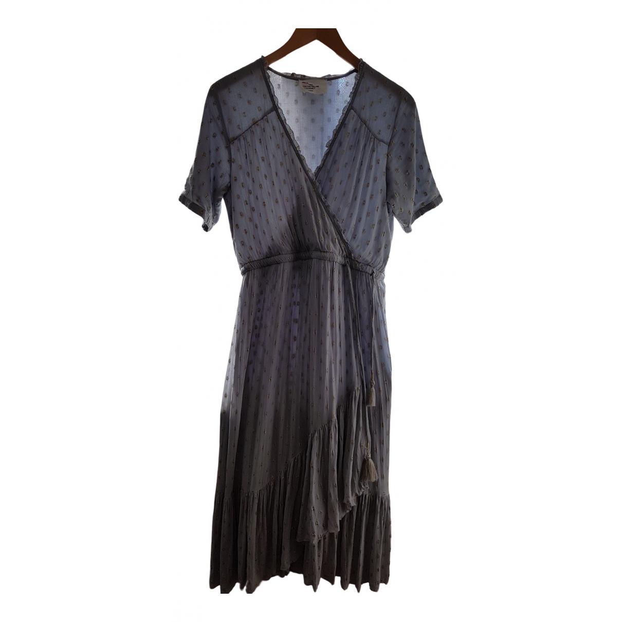 Leon & Harper \N Kleid in  Blau Viskose