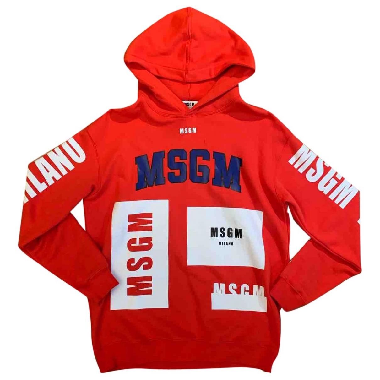 Msgm \N Pullover.Westen.Sweatshirts  in  Rot Baumwolle