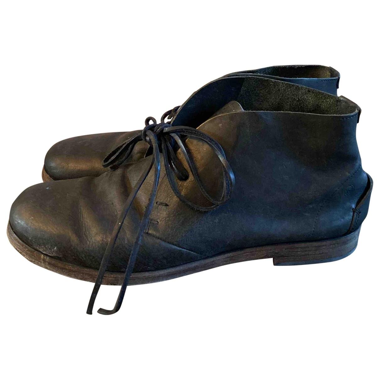 Marsell - Derbies   pour homme en cuir - noir