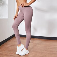 Sports Leggings mit breitem Taillenband