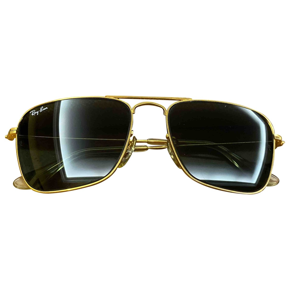 Ray-ban Rectangle  Yellow Metal Sunglasses for Women \N