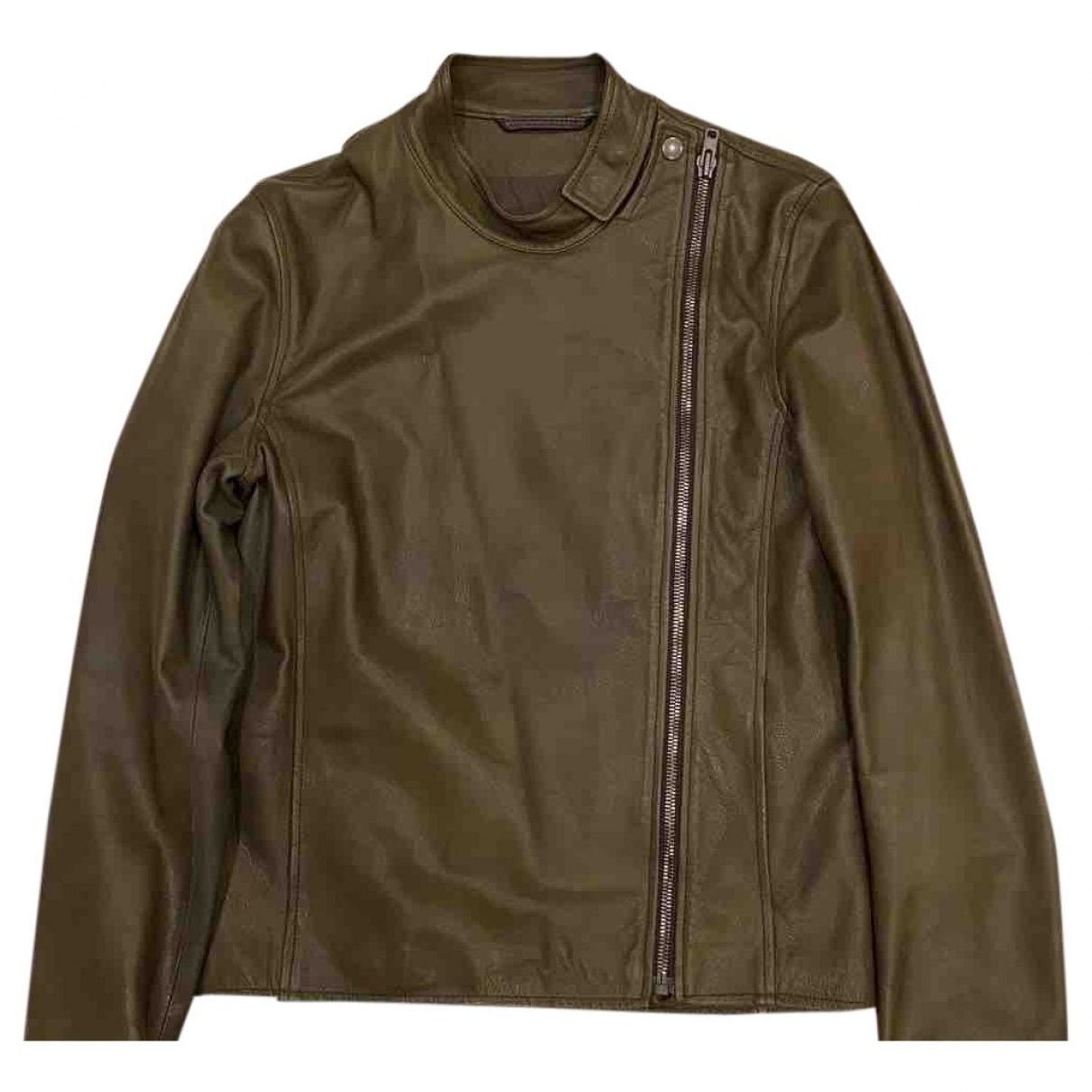 Maison Martin Margiela \N Khaki Leather jacket  for Men 48 IT
