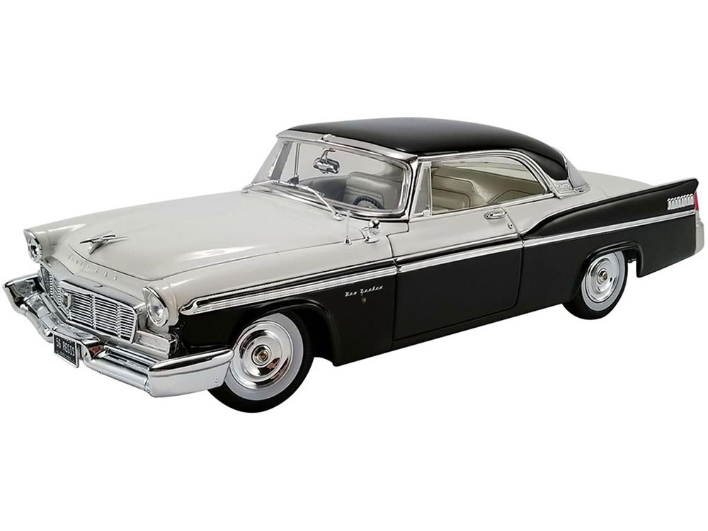 1956 Chrysler New Yorker St. Regis Cloud White and Raven Black Limited Edition to 402 pieces Worldwide 1/18 Diecast Model Car by ACME