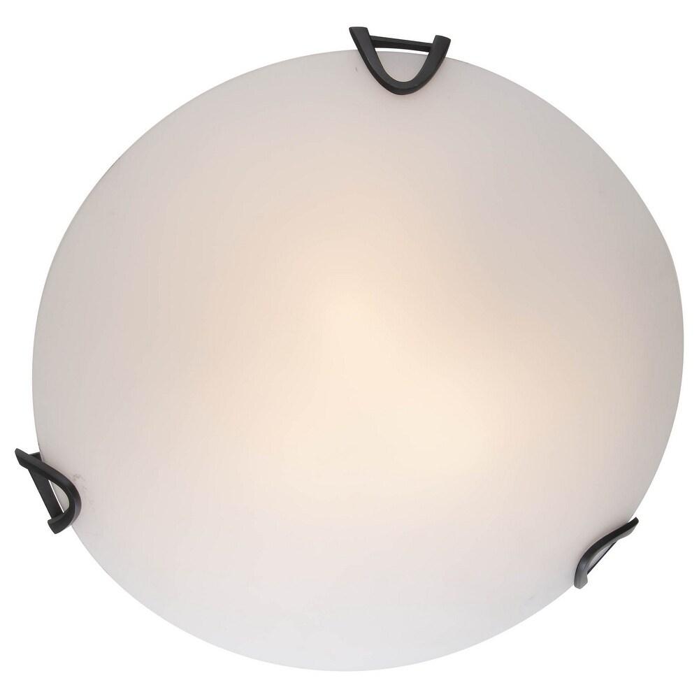 DVI Lighting DVP0512GROP Three Light Flushmount Solstice Graphite - One Size (One Size - Clear)