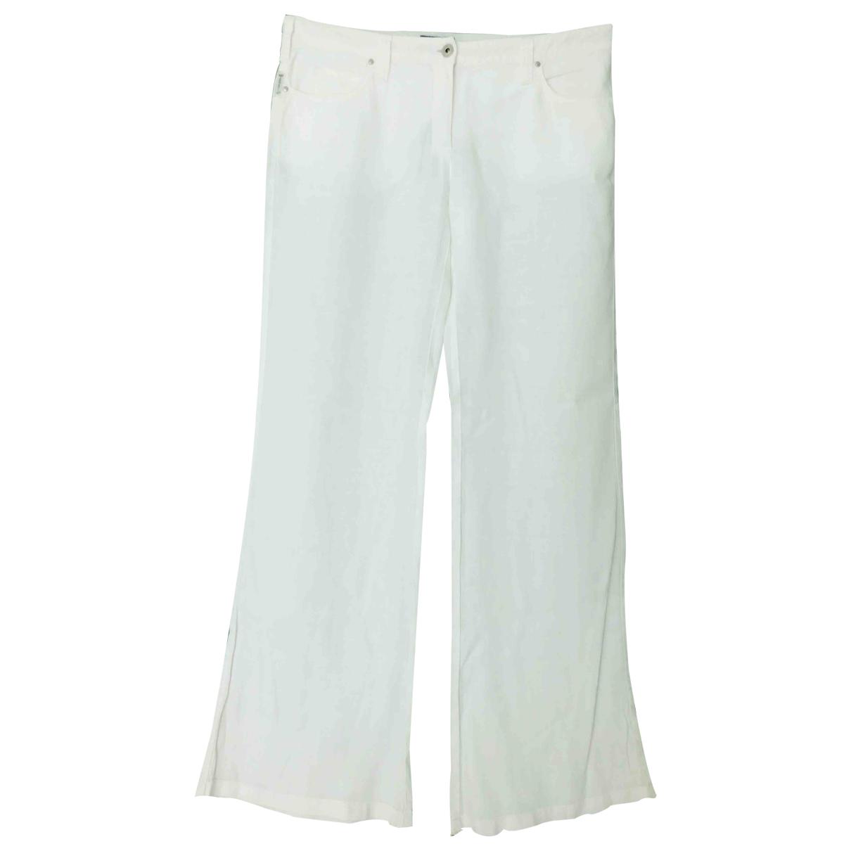 Armani Jeans \N White Linen Trousers for Women L International