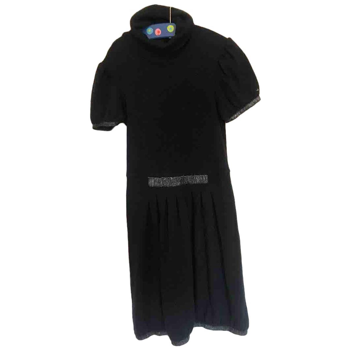 Simonetta - Robe    pour enfant en laine - bleu