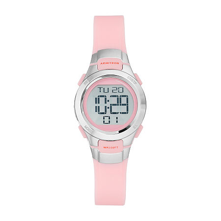 Armitron Pro Sport Womens Chronograph Multi-Function Digital Pink Strap Watch-45/7012pnk, One Size , No Color Family