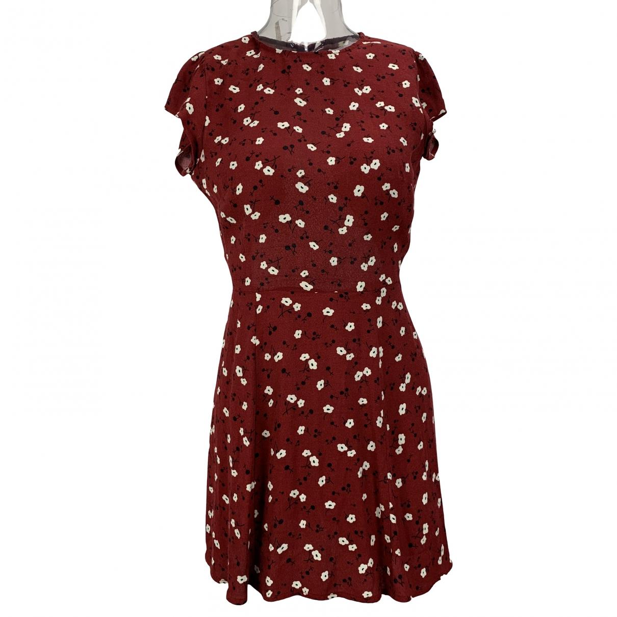 Reformation \N Burgundy dress for Women 1 US