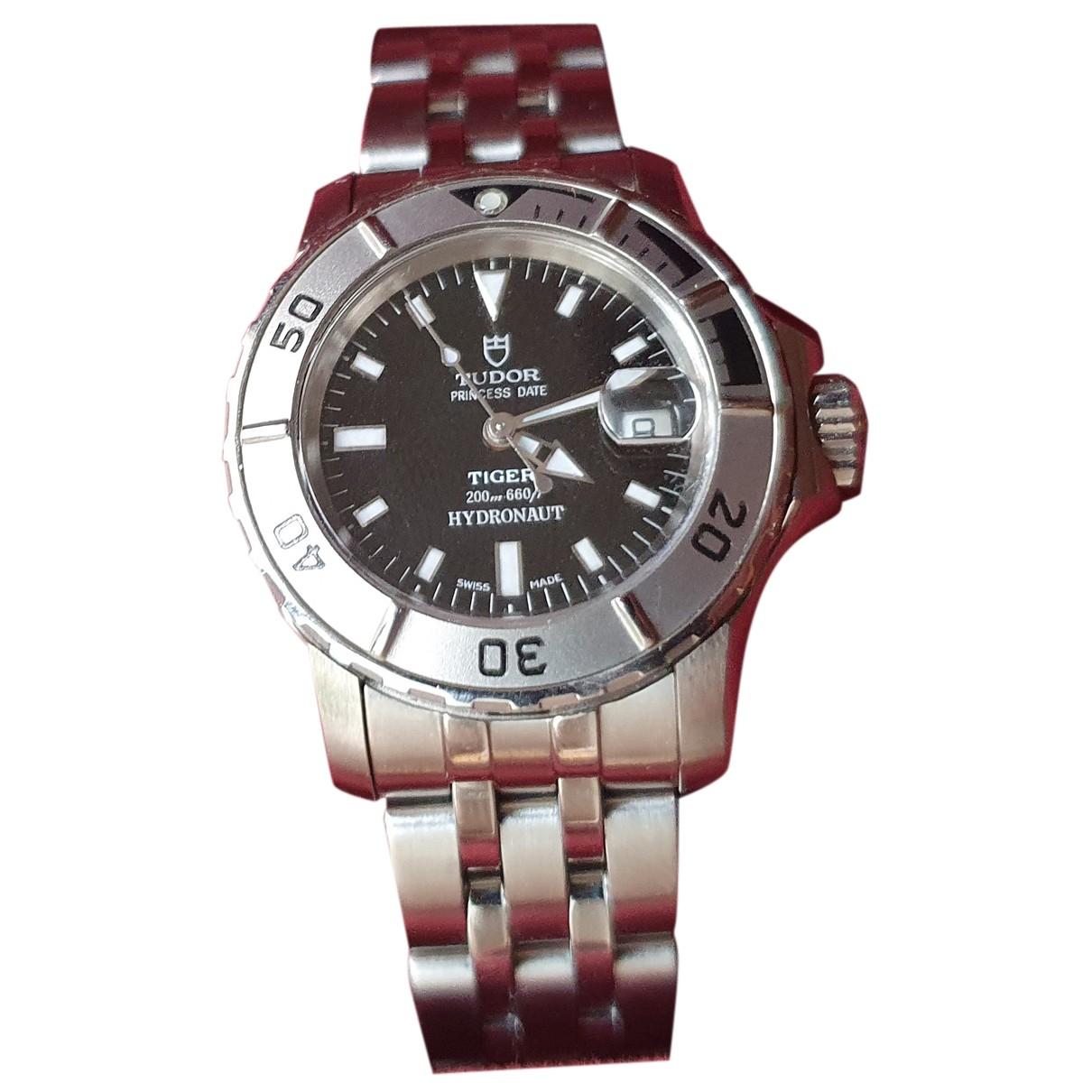 Tudor By Rolex N Black Steel watch for Women N