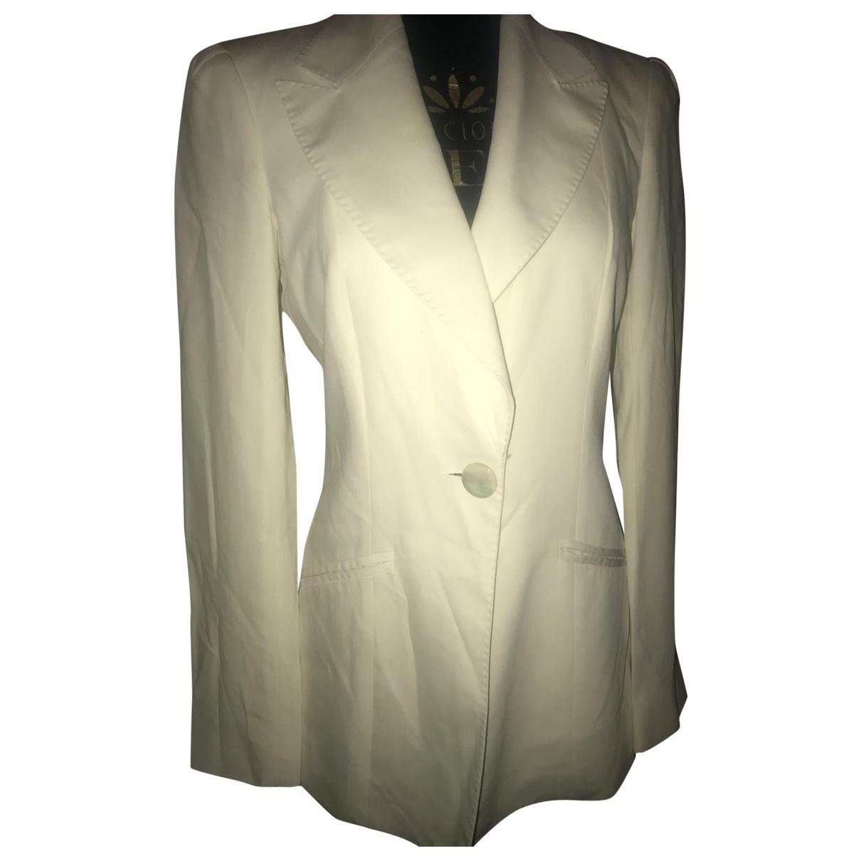 Helene Zubeldia \N White Cotton jacket for Women 36 FR