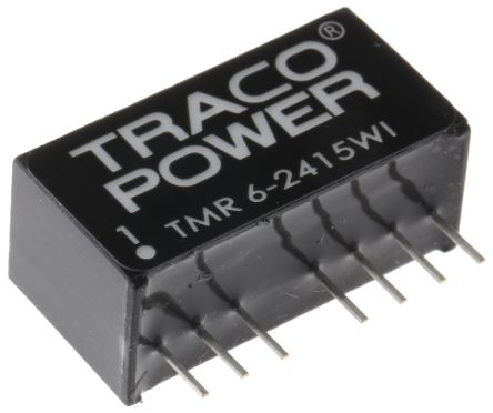 TRACOPOWER TMR 6WI 6W Isolated DC-DC Converter Through Hole, Voltage in 18 → 36 V dc, Voltage out 24V dc