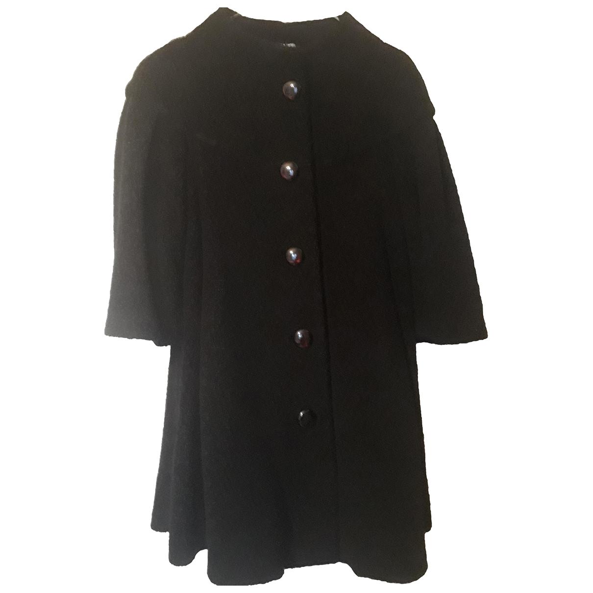 Armani Collezioni - Manteau   pour femme en laine - noir