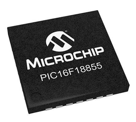 Microchip PIC16LF18855-I/ML, 8bit PIC16F Microcontroller, PIC16LF, 32MHz, 14 kB Flash, 28-Pin QFN (5)