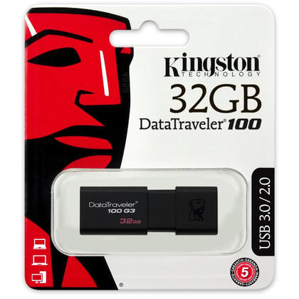 Kingston DataTraveler 100 G3 USB 3.0 Flash Drive - 32GB