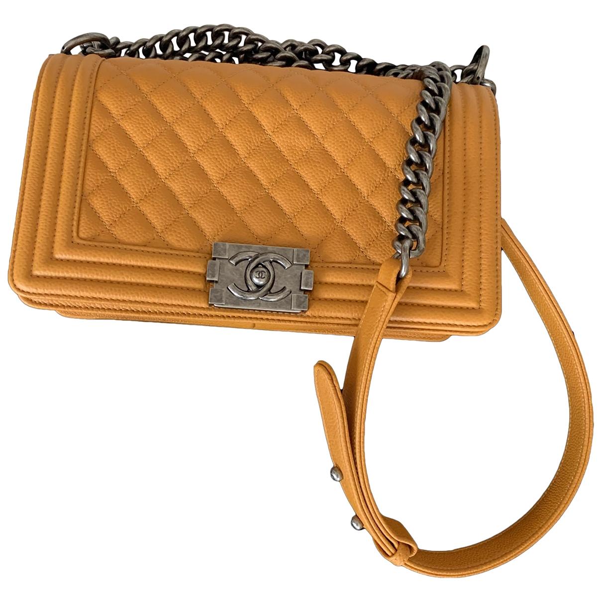 Chanel Boy Orange Leather handbag for Women \N