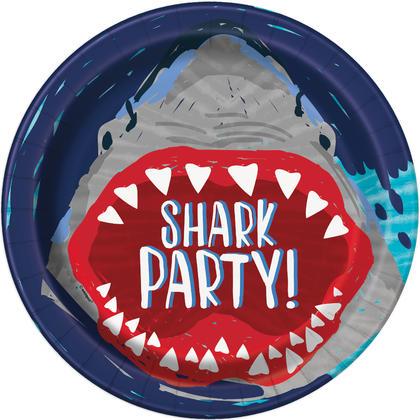 Soirée requin ronde assiettes à dîner 9, 8ct Pour la fête danniversaire