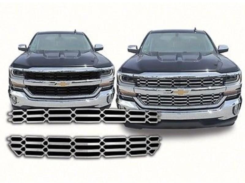 Quality Automotive Accessories Grill Overlay Chevrolet Silverado LS LT 16-18