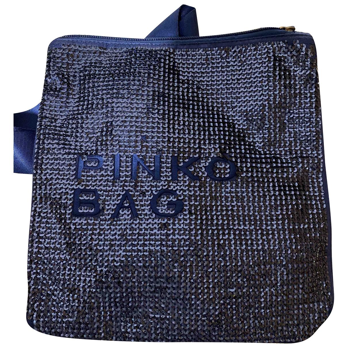 Pinko \N Blue Glitter Clutch bag for Women \N