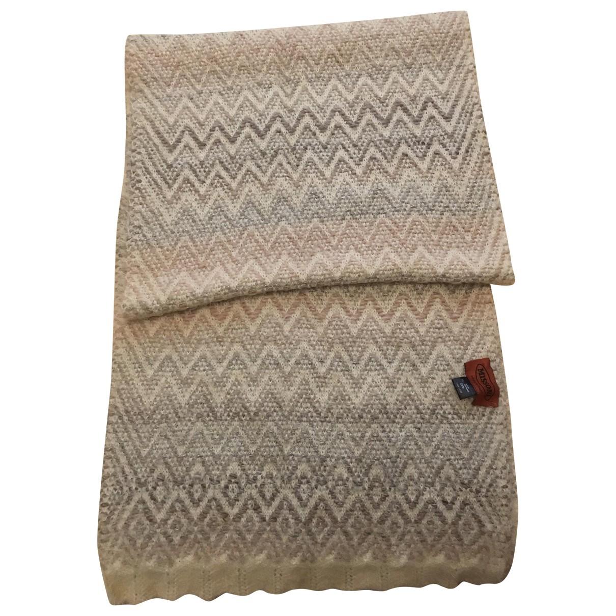 Missoni - Foulard   pour femme en laine - beige