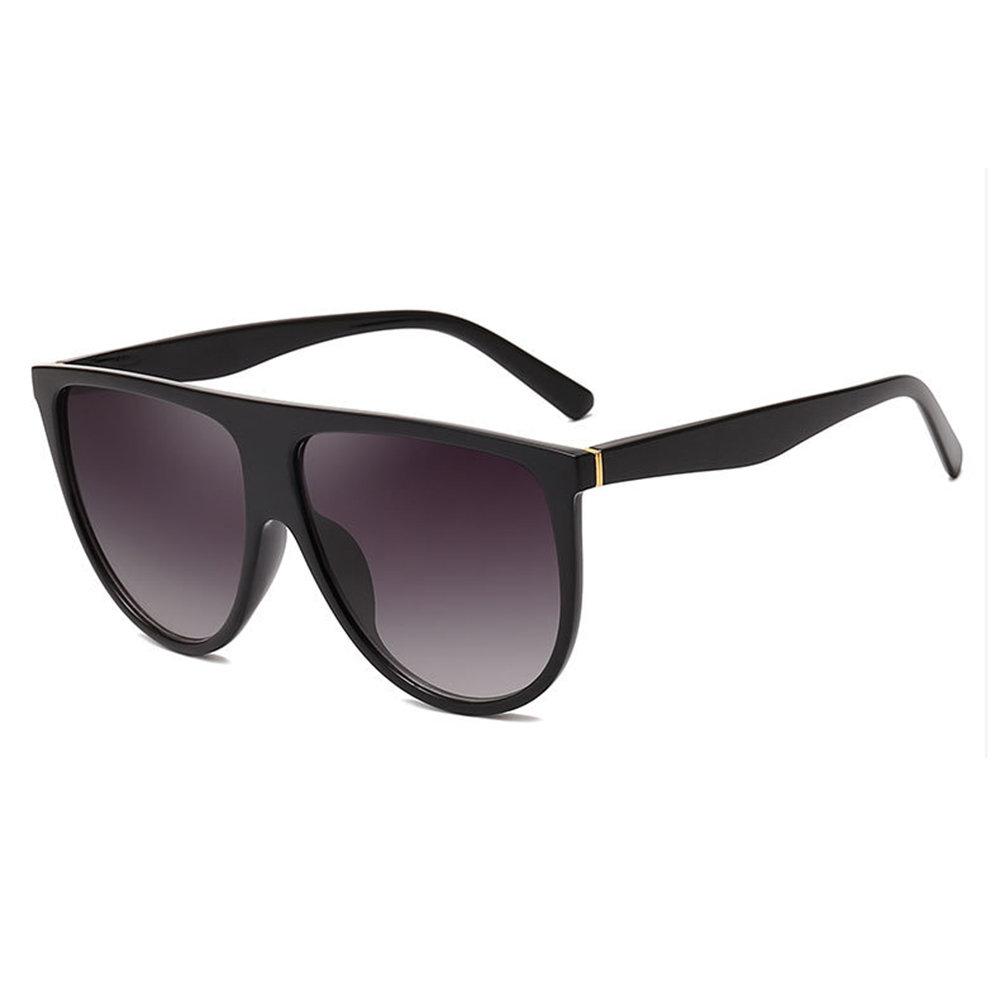 Men's Woman's Retro Sunglasses Fashion Big Circle Round Frame Sunglasses