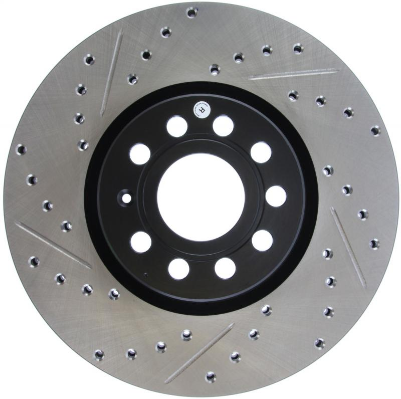 StopTech 127.33098R Sport Drilled/Slotted Brake Rotor; Front Right Front Right