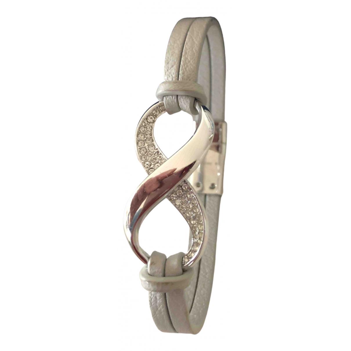 Swarovski - Bracelet   pour femme en cuir - argente
