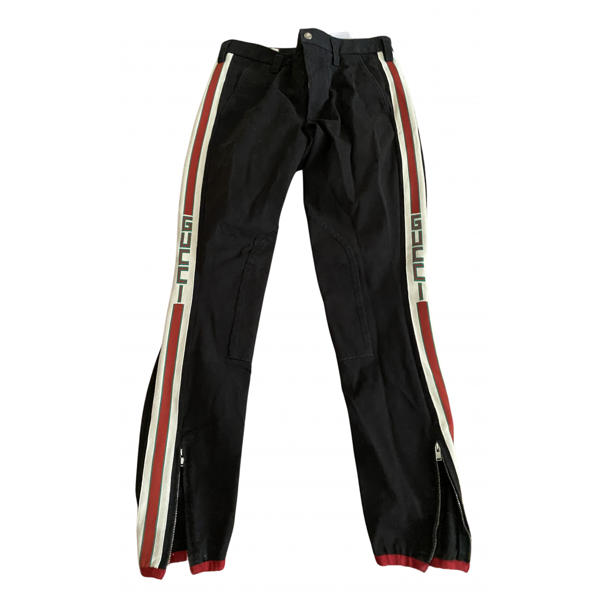 Gucci N Black Cotton Trousers for Men 46 IT