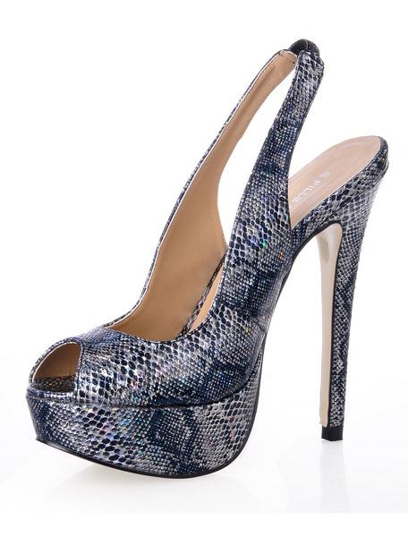 Milanoo Zapatos con estampado de serpiente