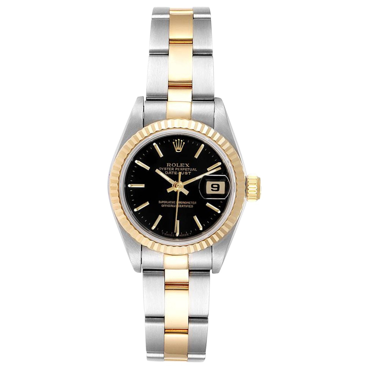 Rolex Lady DateJust 26mm Black gold and steel watch for Women \N