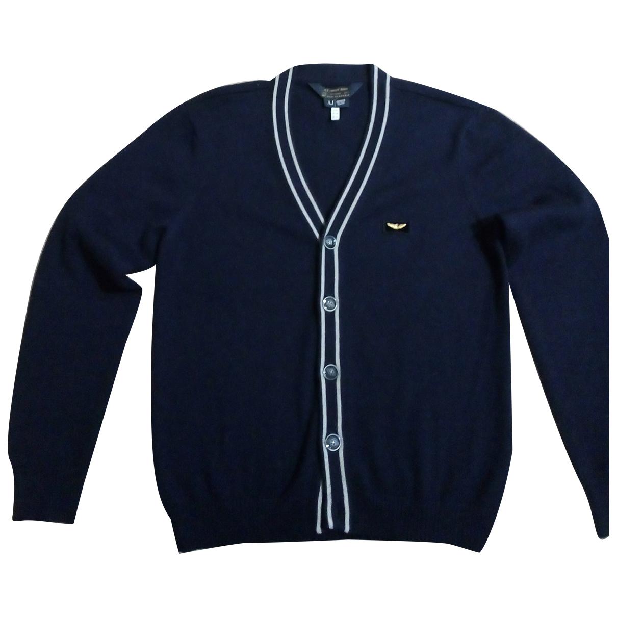 Armani Jean - Pulls.Gilets.Sweats   pour homme en laine - bleu