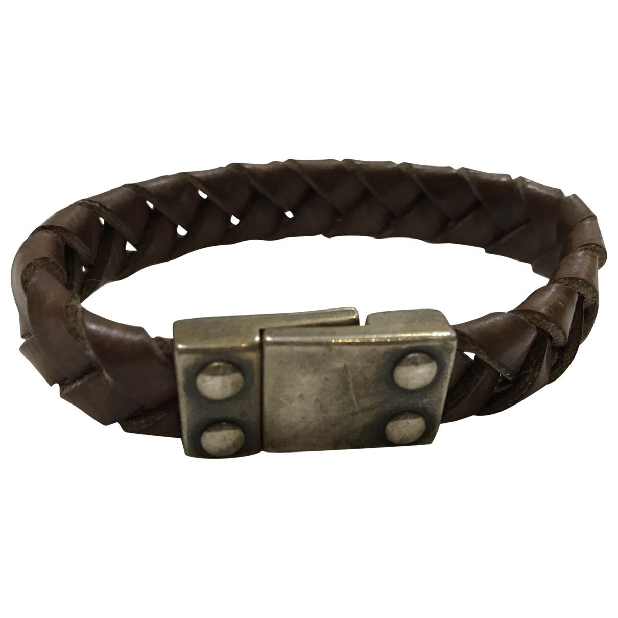 Non Signe / Unsigned \N Armband in  Kamel Leder